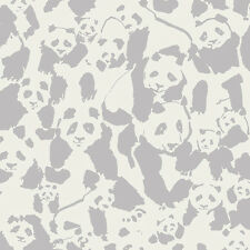 Art Gallery ~ Pandalings Pod Shadow KNIT Fabric / jersey clothing panda grey