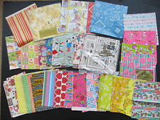Vintage Lot Gift Wrap Wrapping Paper, Over 30 Designs Novelty Flowers Over 2 lbs