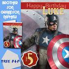 CAPTAIN AMERICA - PERSONALISED Birthday Card Son Brother Nephew Grandson