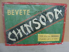 INSEGNA TARGA CARTELLO BEVETE CHINSODA EPOCA OLD SIGN ITALY