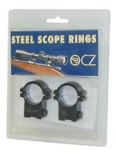 "New! CZ USA 11mm 1"" CZ 452/453/455 Dovetail Blued Finish Scope Rings 19001"