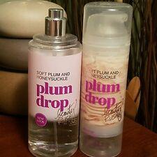 Victoria's Secret Beauty Rush PLUM DROP  Body Mist & SHIMMER Cream