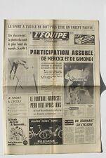 Journal l'Equipe n°7210 - 1969 - Eddy Merckx et Gimondi - Football Lille - Lens