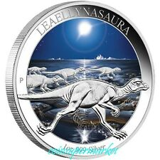 2015 Australia Age of Dinosaurs - Leaellynasaura 1oz Silver Proof Colored Coin!!