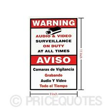 Home CCTV Surveillance Security Camera Video Sticker Warning Decal Sign