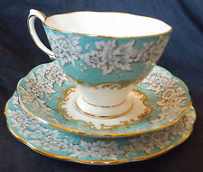 VINTAGE ROYAL ALBERT ENCHANTMENT CHINA TRIO PLATE CUP & SAUCER  DESSERT