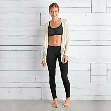prAna Women's Ashley Legging Pant, Black, Large