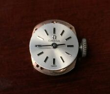 Vintage Omega Cal 484 Mechanical Movement Dial Hands & Crown Parts WORKING