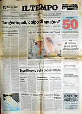 * TEMPO N° 151/ 5/GIU/1994 * MORTO TROISI, maschera di Napoli * TANGENTOPOLI . .