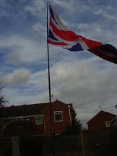 6m TELESCOPIC POLE.FLY YOUR FLAGS & WINDSOCKS INCLUDING STANDARD GROUND STAKE