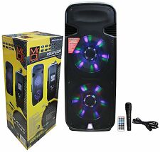 "Mr. Dj PSBAT6200 Dual 15"" 4000W Max Power Speaker with Built-In Bluetooth"