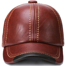Man Baseball Cap Gorras Winter Hat Guarantee Cow Leather Chapeu Adjustable