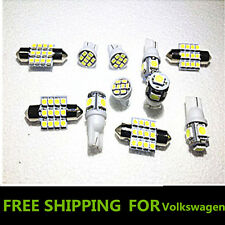 11PCS White LED Lights Interior Package for T10 & 31mm Map Dome + License Plate