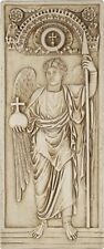 Archangel Michael Standing in Majesty Byzantine Wall Relief Stone Finish 13H
