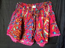 Colourful Hippy Boho Festival shorts One Size Holiday Beach Summer Colourful