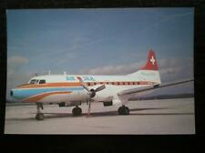 POSTCARD AIR SEA SEVICE CONVAIR 440  AT GENEVA 4/77