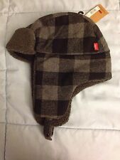New Men's Levi's Buffalo Plaid Wool-Blend Trapper Hat - Choose S/M or L/XL