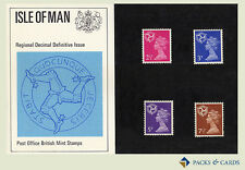 1971 Isle of Man Definitive Stamp Presentation Pack PPD11 (printed no.30)