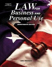 Law for Business and Personal Use by John E. Adamson (2005, Hardcover, Revised)