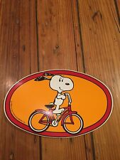 Vintage NOS Huffy Snoopy Oval # Plate Decal-United-1958 Copyright-BMX,Muscle