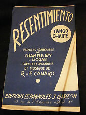 Partition Resentimiento Canaro Music Sheet