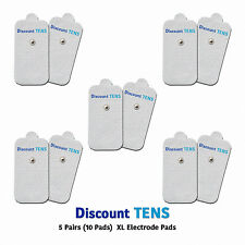 TENS XL Snap On Electrode Pads, 5 Pairs (10 Pads)