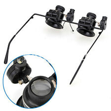 20X Magnifier Magnifying Eye Glasses Loupe Watch With LED Light Repair Tool ACTP