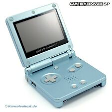 GameBoy Advance - Konsole GBA SP #Arctic Blue / blau AGS-101 (inkl. Stromkabel)