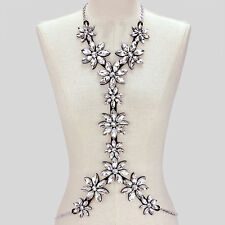 CRYSTAL - RHINESTONE HARNESS/ BODY CHAIN LEATHER COSTUME/DRAG QUEEN/GLAM BONDAGE