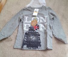 EGG BY SUSAN LAZAR Boy's Slub Big Ben Tee in Grey, 3T,  $44