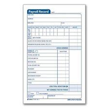 Adams Employee Payroll Record Book - D4743