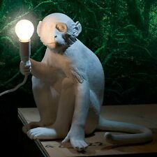 Seletti Monkey Sitting Desk Lamp White Resin Modern Table Lamp including LED