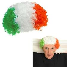 St patrick's day-vert blanc orange irlandais perruque-party dress up