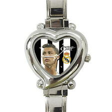 Real Madrid Cristiano Ronaldo Cr7 Cool heart italian charm watch free shipping