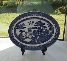 Johnson Brothers Willow Pattern Serving Platter 30cm Hand Engraved