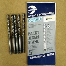 5 BBW HSS-E COBALT DRILL BITS 5.1MM - MADE IN GERMANY