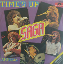 """7"""" 1981 CLASSIC ROCK RARE IN MINT- ! SAGA : Time´s Up"""