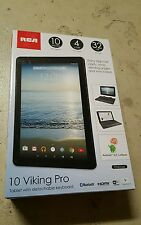 RCA 10 Viking Pro 2-in-1 Tablet 32GB Quad Core Charcoal w/ Keyboard Brand New