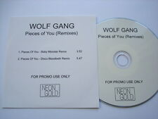 WOLF GANG - PIECES OF YOU (REMIXES) - 2 TRK PROMO CD