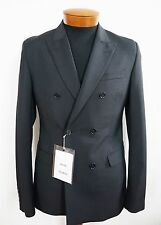 $650 NWT ACNE STUDIOS Black 100% Wool DOUBLE-BREASTED Blazer Suit Jacket EU-46 S