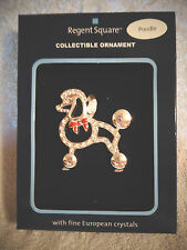 Sparkley Poodle Christmas Ornament By Regent Square - Nwt-Beautiful!
