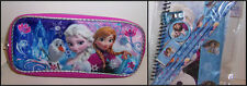 Disney FROZEN DELUXE ZIPPERED POUCH Supplies Case & 8-PIECE STATIONERY SET NEW!