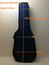 Premium Hard Foam Case for Acoustic Guitars Strong Nylon Exterior