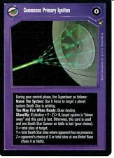 STAR WARS CCG A NEW HOPE BLACK BORDER COMMENCE PRIMARY IGNITION