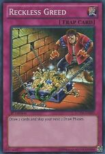 Yugioh - 1x Reckless Greed - LCYW-EN285 - Super Rare - Unlimited Edition - Near