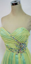 NWT ROBERTA $147 Yellow / Seafoam Prom Formal Gown 5