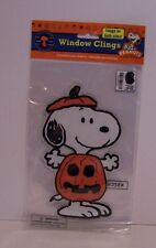 Snoopy Pumpkin Halloween Window Cling Peanuts