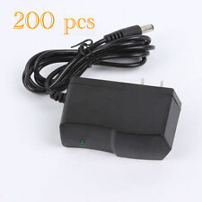 Wholesale Lot x200 12V 1A AC/DC Power Supply Adapter 5.5 x 2.1mm US Plug 1000mA