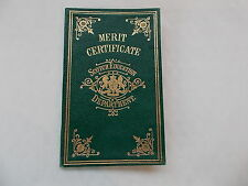 Merit Education Cerificate Of The Scotch Education Dept. From 1900 - Katie Brown