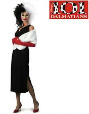Adults Cruella De Vil 101 Dalmatians Costume With Wig